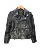 ()の古着「Riders Jacket J24」|ブラック