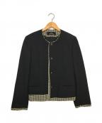 tricot COMME des GARCONS()の古着「ウールノーカラージャケット」 ブラック