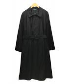 ()の古着「ステンカラーオーバーコート」|ブラック