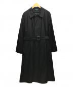 RALPH LAUREN(ラルフローレン)の古着「ステンカラーオーバーコート」 ブラック