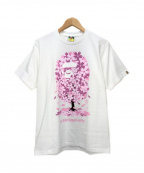 A BATHING APE(エイプ)の古着「Sakura Tee」|ホワイト