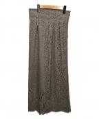 Spick and Span Noble(スピックアンドスパンノーブル)の古着「リバーレースIラインスカート」|ベージュ