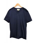GUCCI(グッチ)の古着「VネックTシャツ」|ネイビー