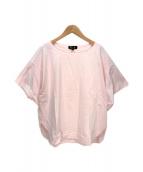 ()の古着「スリットスリーブTシャツ」|ピンク