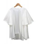 ENFOLD(エンフォルド)の古着「バックサテンジョーゼットスリットスリーブフレアPO」 ホワイト