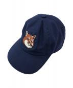 maison kitsune(メゾンキツネ)の古着「CAP 6P LARGE FOX HEAD EMB」|ネイビー