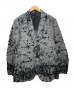 ISSEY MIYAKE MEN(イッセイミヤケメン)の古着「ろうけつ染めリネンテーラードジャケット」|グレー