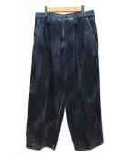 Porter Classic(ポータークラシック)の古着「インディゴストライプパンツ」|インディゴ