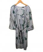 TO BE CHIC(トゥービーチック)の古着「ボタニカルフラワーワンピドレス」 ブルー
