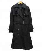 LOUNIE(ルーニー)の古着「ライナー付トレンチコート」 ブラック