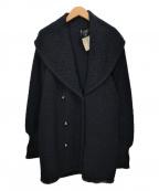 CHANEL()の古着「ココマークニットコート」 ブラック