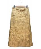 ()の古着「刺繍ラップスカート」 イエロー