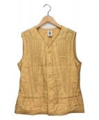 ()の古着「刺繍チャイナベスト」 イエロー
