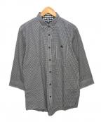 BURBERRY BLACK LABEL()の古着「ギンガムチェックシャツ」|ブラック