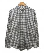 BURBERRY BLACK LABEL()の古着「チェックシャツ」|ホワイト×ブラック