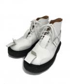 GEORGE COX(ジョージコックス)の古着「V Toe Strap Boot」|ホワイト