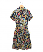 FWk Engineered Garments(エフダブリューケーエンジニアードガーメンツ)の古着「花柄ワンピース」|ネイビー