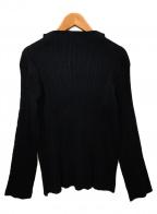 ISSEY MIYAKE WHITE LABEL(イッセイミヤケホワイトレーベル)の古着「プリーツカットソー」 ブラック