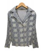 ()の古着「プリーツジャケット」 グレー