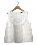 MAX&Co.(マックスアンドコー)の古着「ノースリーブブラウス」|ホワイト