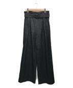 ()の古着「サイドジップデニムパンツ」|ブラック