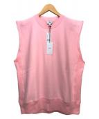()の古着「コットンスエットスリーブレスビックプルオーバー」 ピンク