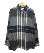 NOMA t.d.(ノーマティーディー)の古着「チェックシャツ」 グレー