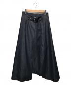 LE PHIL()の古着「ハイブリットデニムスカート」|ネイビー