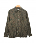 WACKO MARIA(ワコマリア)の古着「PAISLEY OPEN COLLAR SHIRT」|ブラウン×グリーン