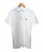 AMI Alexandre Mattiussi(アミ アレクサンドル マテュッシ)の古着「De Coeur Polo Shirt」 ホワイト