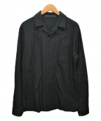 HAIDER ACKERMANN(ハイダーアッカーマン)の古着「オープンカラーシャツ」 ブラック