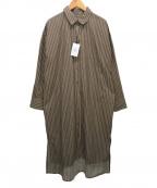 MAISON DE REEFUR(メゾン ド リーファー)の古着「ストライプシャツワンピース」|ブラウン