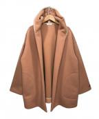 Loungedress(ラウンジドレス)の古着「フードショートコート」 ピンク