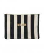 MSGM(エムエスジーエム)の古着「クラッチバッグ」|ホワイト×ブラック