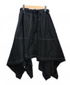 J.W. ANDERSON(ジェイダブリューアンダーソン)の古着「デザインステッチスカート」|ブラック