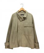 STUNNING LURE(スタニングルアー)の古着「ゴートレザージャケット」|ベージュ