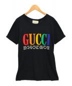 ()の古着「シティプリントTシャツ」 ブラック
