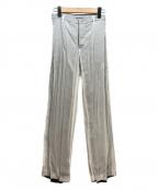 ISSEY MIYAKE(イッセイミヤケ)の古着「プリーツパンツ」|ライトグレー