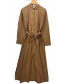 ()の古着「シャツワンピース」|ブラウン