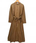 MACKINTOSH PHILOSOPHY(マッキントッシュフィロソフィー)の古着「シャツワンピース」 ブラウン