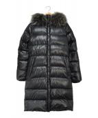 ()の古着「ファーダウンコート」|ブラック