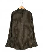 FENDI()の古着「ストライプシャツ」 ブラウン