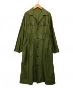 MACPHEE(マカフィー)の古着「ドロストリングワンピース」|グリーン