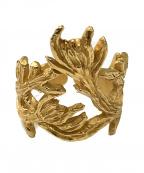 Dior(ディオール)の古着「リーフリング」 ゴールド