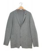 ()の古着「ニットテーラードジャケット」|グレー
