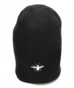 DIOR HOMME(ディオール オム)の古着「ビ-刺繍ニット帽」|ブラック