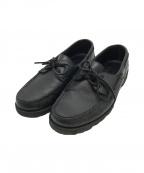 PARABOOT()の古着「デッキシューズ」|ブラック