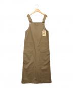UNIVERSAL OVERALL(ユニバーサルオーバーオール)の古着「ジャンパースカート」|ベージュ