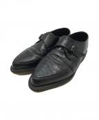 Dr.Martens()の古着「型押しストラップシューズ」|ブラック
