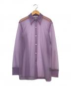 PHEENY(フィーニー)の古着「NYLON SMOOTH SHIRT」|パープル